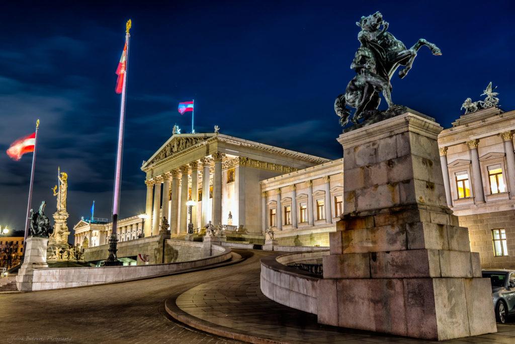 Le Parlement Autrichien à Vienne (Autriche)