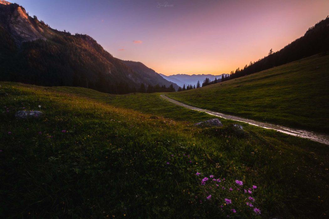 Un soir dans les Alpes (Solalex - Suisse)