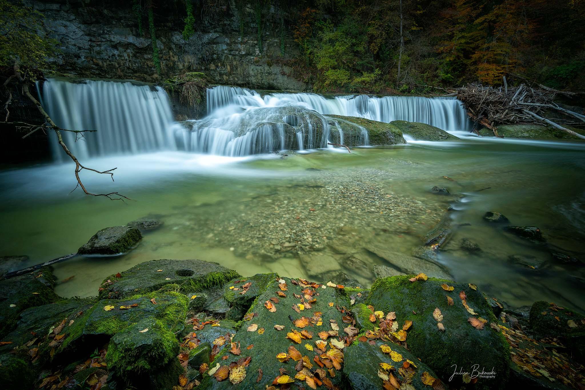 Chute-Chavanettes-Fribourg-effet filé-cascade-eau-Suisse-chute d'eau-pose longue-mousse-filtre ND-filtre NISI-Broye-Bukowski