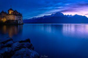 Castle and Alps (Château de Chillon - Suisse)