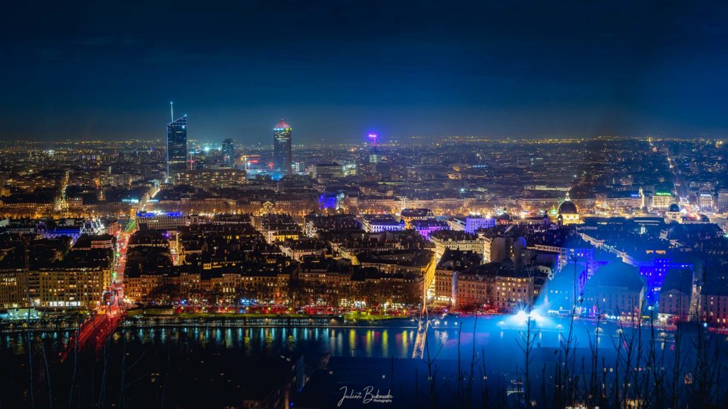 Lyon nightscape (France)