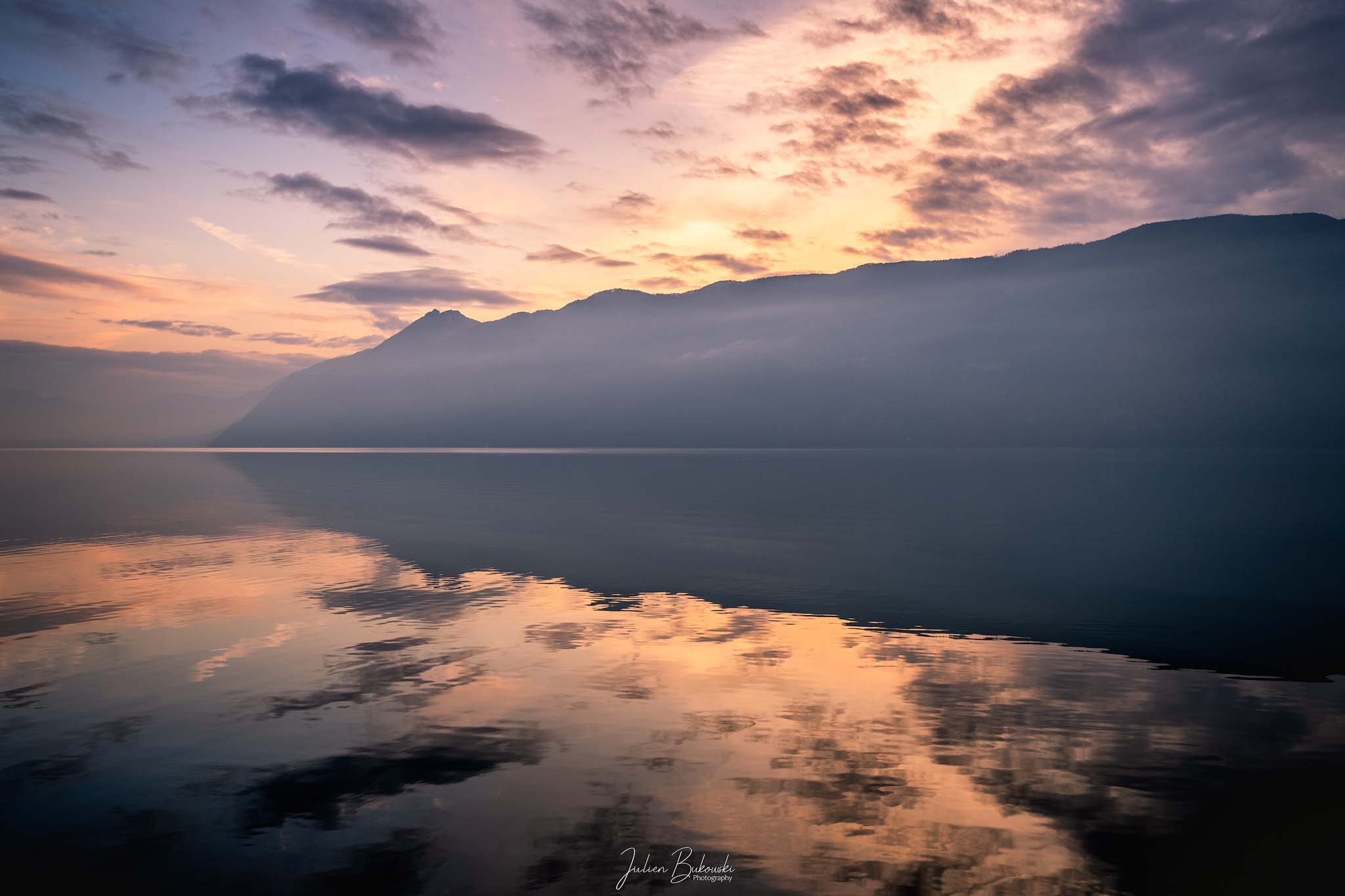Sunset Lac du Bourget (France)