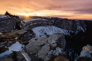 Amazing Winter Sunset (Creux du Van - Suisse)